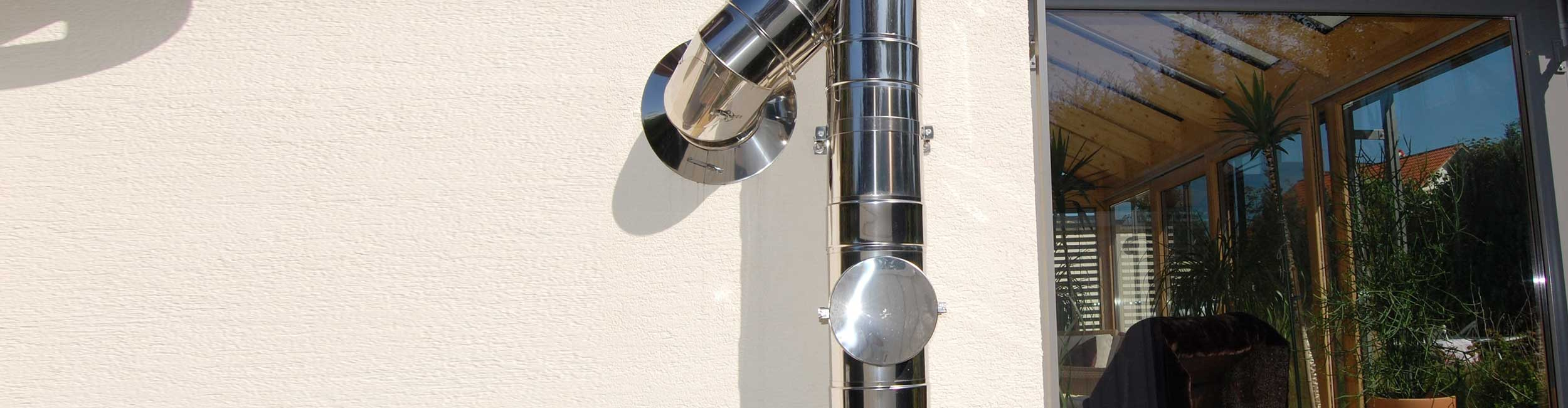 Edelstahl Schornsteinverl/ängerung /Ø 130mm, 300mm Doppelwandiges Schornsteinrohr in allen L/ängen und Durchmessern